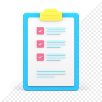 Lista di controllo 3d icona