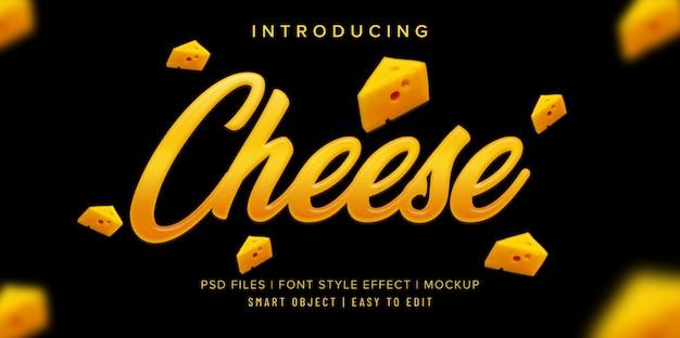 Mockup di effetto stile carattere formaggio