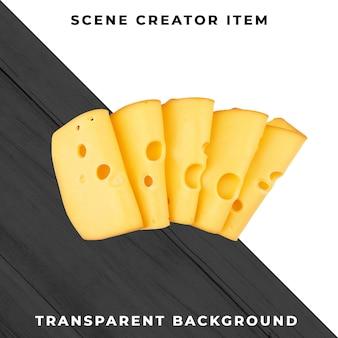 Formaggio su sfondo trasparente