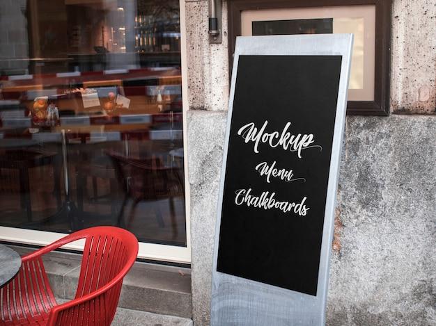 Chef menu chalkboards mockup