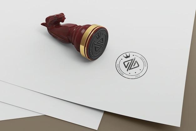 Scacchi timbro logo mockup design