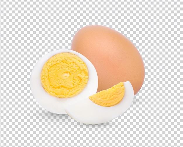 Uovo sodo del pollo isolato