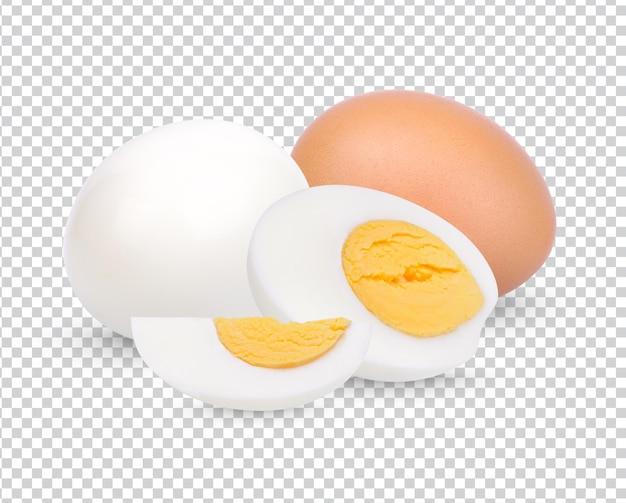 Uovo di gallina, uovo sodo isolato psd premium