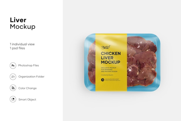 Mockup di fegato di pollo