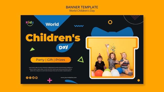 Modello di banner di giorno dei bambini