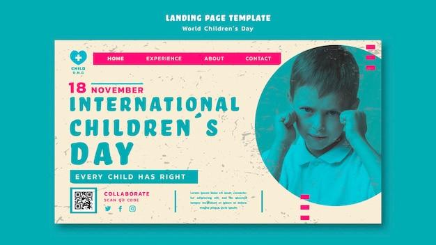Pagina di destinazione del giorno dei bambini