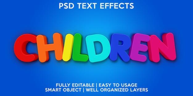 Effetto testo per bambini