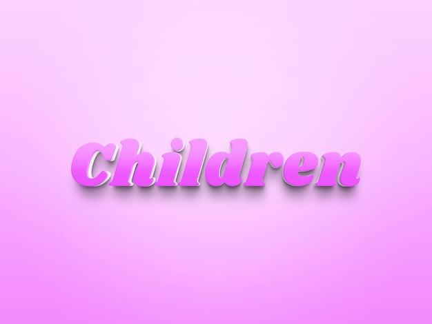 File photoshop per effetti di testo per bambini