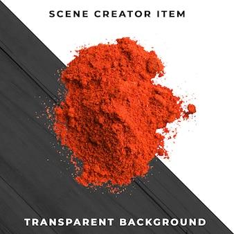 Polvere di peperoncino rosso isolata con il percorso di ritaglio.
