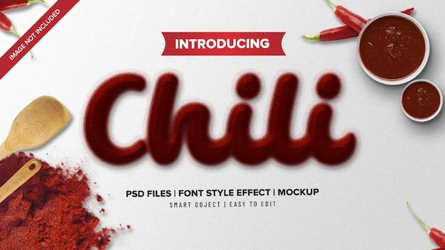 Effetto testo piccante in stile font in polvere