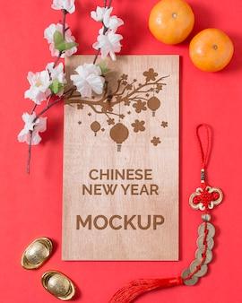 Mock-up di concetto di capodanno cinese