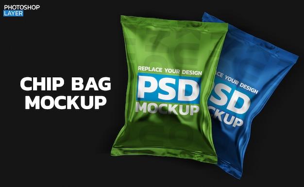 Rendering 3d di chip bag