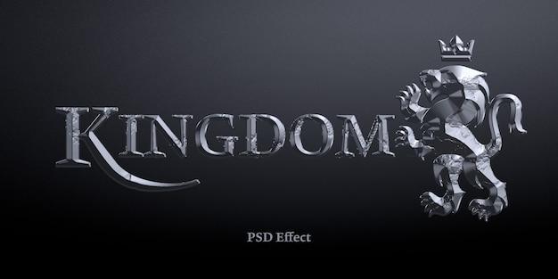 Scalpello in pietra 3d effetto stile testo mockup Psd Premium