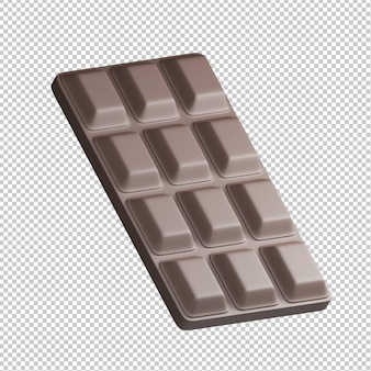 Barretta di cioccolato 3d illustrazione