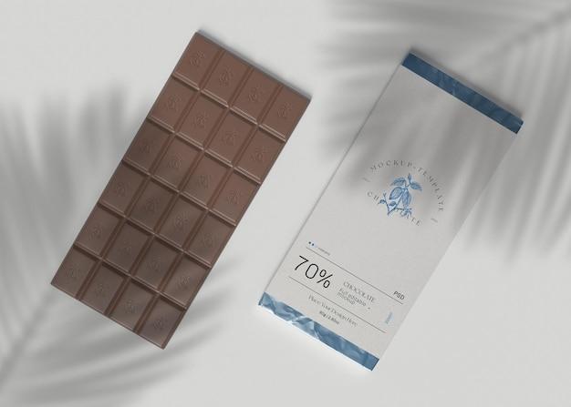 Mockup di barretta di cioccolato