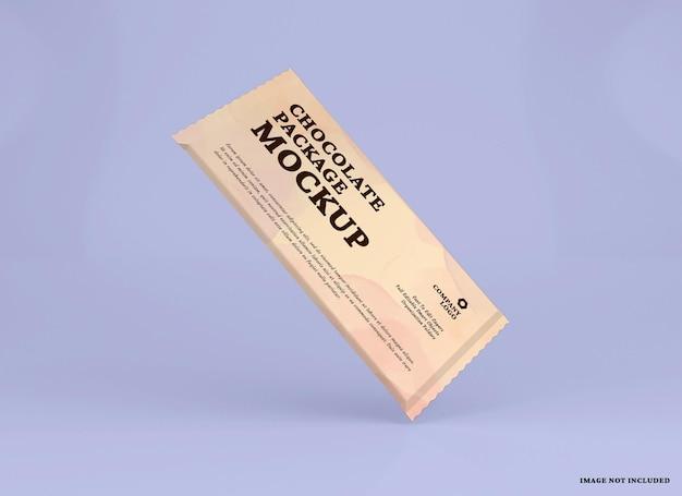 Design mockup pacchetto barretta di cioccolato isolato