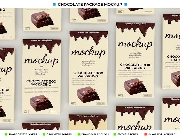Mockup di scatola di cioccolatini per il pacchetto del prodotto