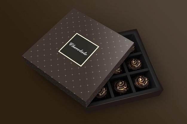 Mockup di scatola di cioccolato