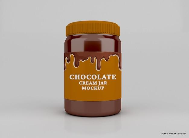 Mockup di barattolo di cioccolato