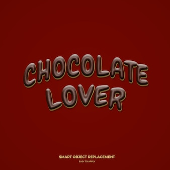 Effetto stile testo amante del cioccolato