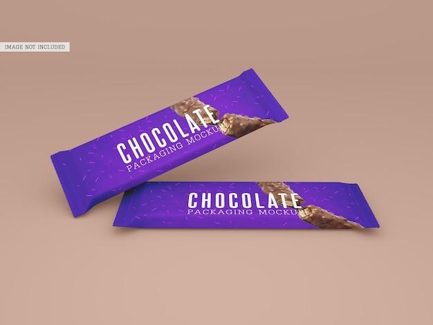 Mockup di confezioni di cioccolato
