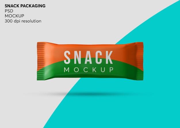 Chocolate snack bar packaging mockup isolato