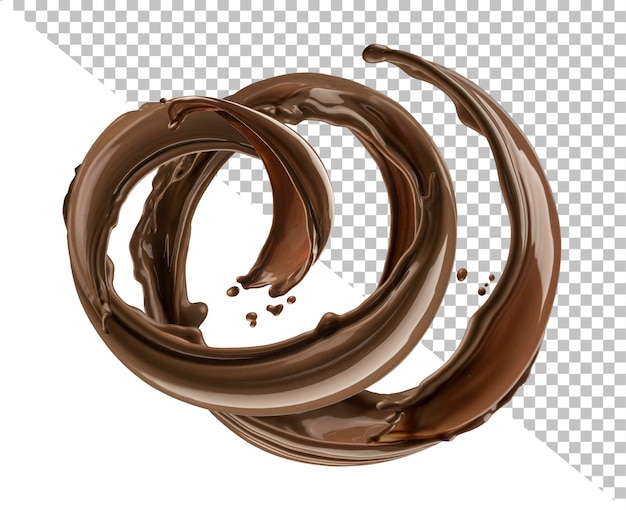 Spruzzata di cioccolato isolata