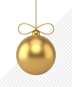 Icona 3d della palla di natale