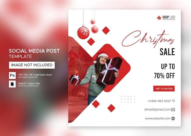 Vendita banner natalizi post instagram psd premium