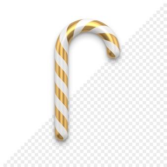Icona 3d del bastoncino di zucchero di natale