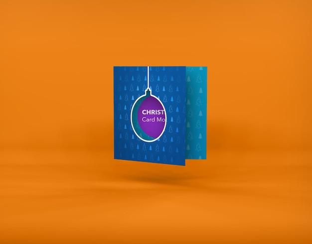 Cartolina di natale mockup isolato