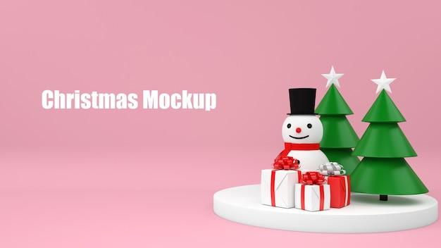 Natale mockup commerciale shopping concetto di vendita