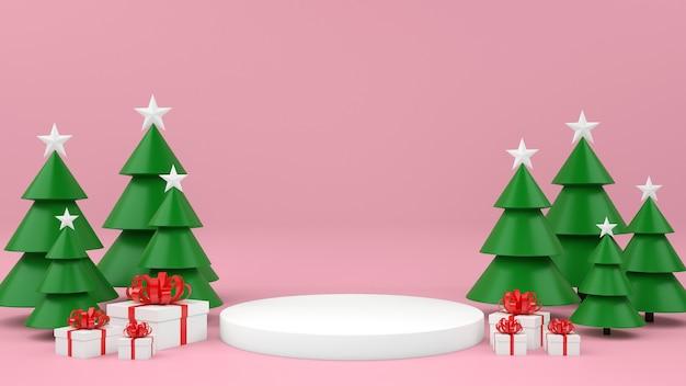 Mockup commerciale di natale con scatole regalo