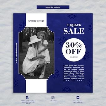 Progettazione di modelli di social media di promozione e pubblicità di vendita di moda di natale