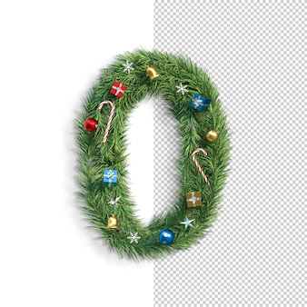Carattere natalizio, numero 0