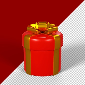 Contenitore di regalo di natale isolato 3d render