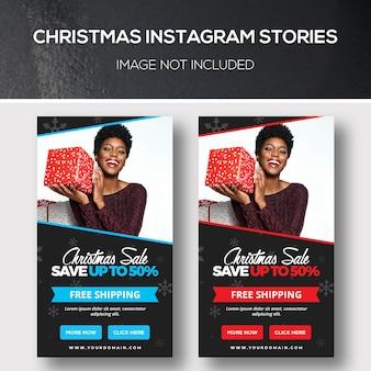 Storie di natale di instagram