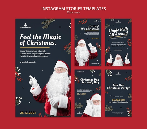 Storie di instagram magiche di natale