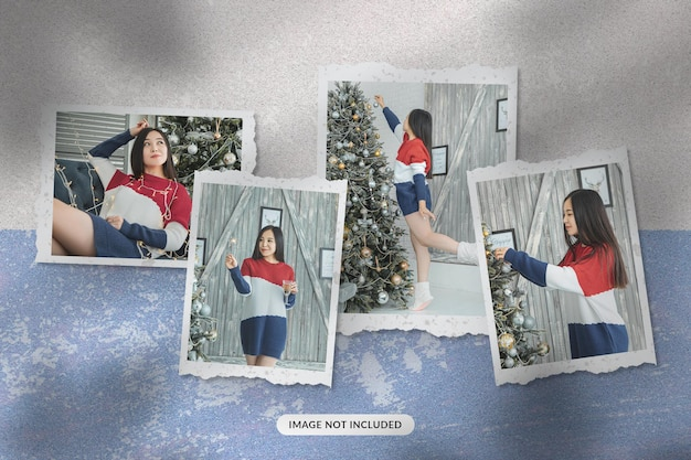 Mockup di foto di carta di natale