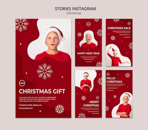Storie di instagram di vendita di natale Psd Premium