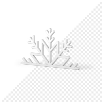 Icona 3d del fiocco di neve di natale