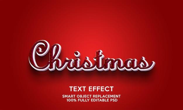 Modello di effetto testo natalizio