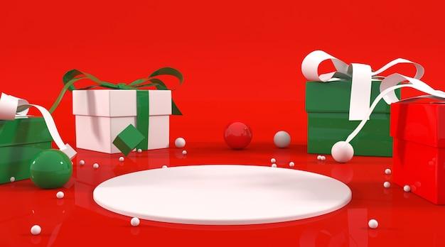 Illustrazione del podio a tema natalizio