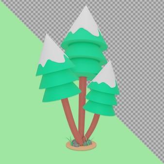 Rendering di progettazione dell'albero di natale isolato
