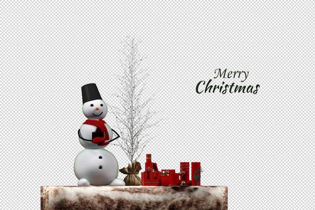 Ghirlanda natalizia con cuori iniziali e pupazzo di neve di pan di zenzero