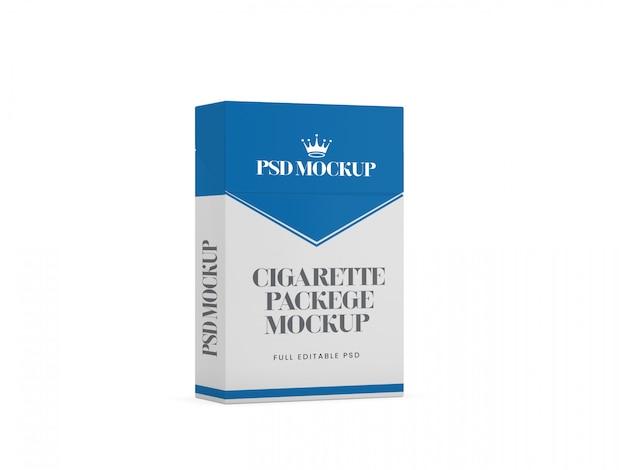 Scatola di sigarette modello 3d mockup