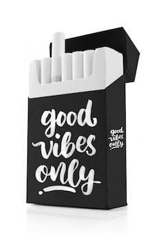 Sigaretta in un mockup di scatola