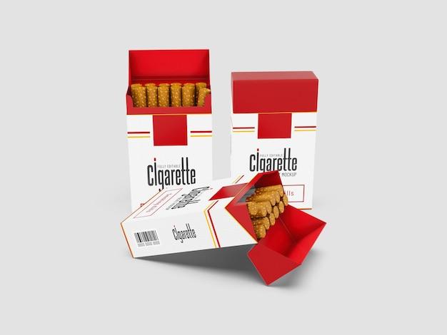 Mockup di pacchetto di sigarette