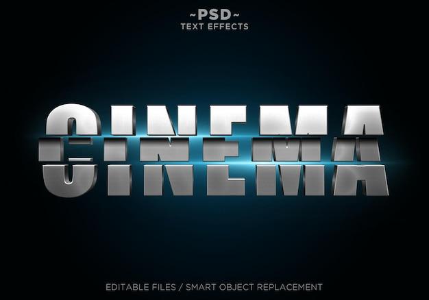 Testo modificabile di effetti a fette di cinema