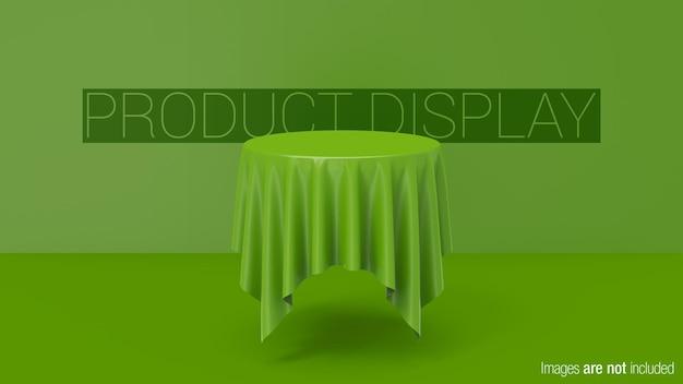 Display del prodotto da tavolo circolare